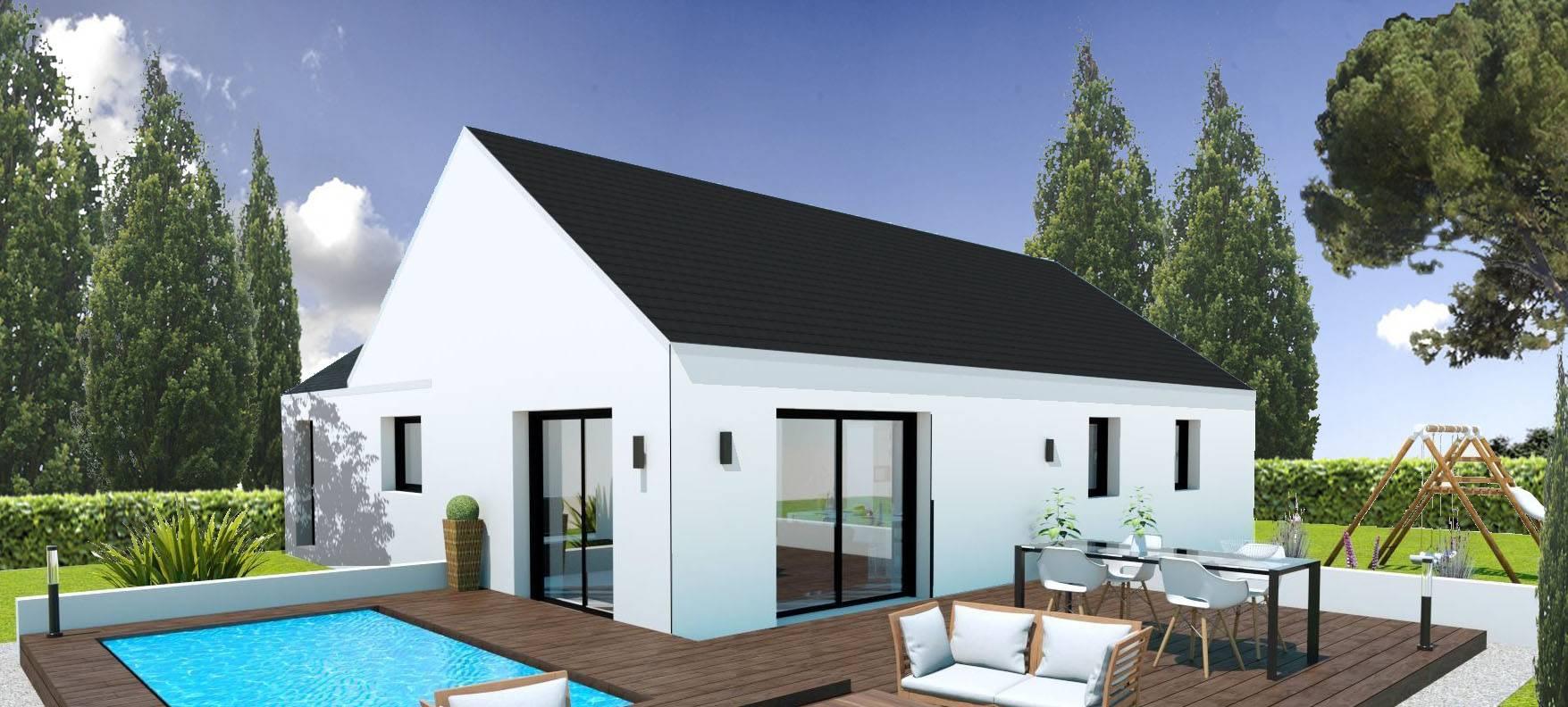 Maison pas cher a construire best maison chambres de m with maison pas cher a construire - Maison neuve pas cher en kit ...