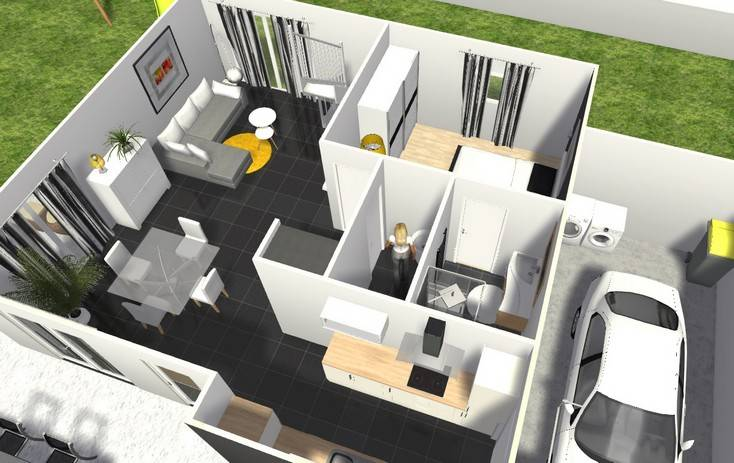 Simple maison d peps with construire maison 3d for Construire maison 3d