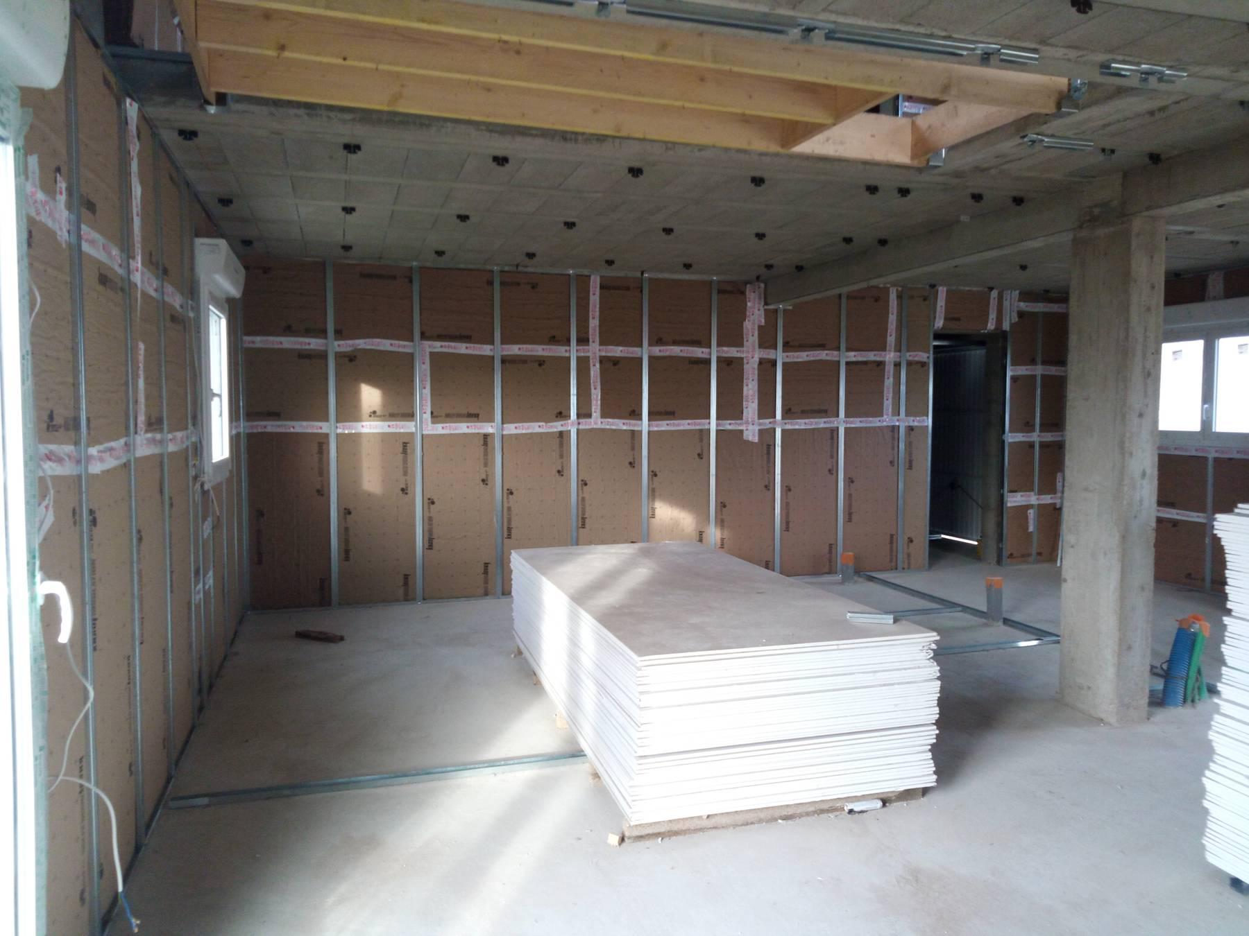 d marrage des travaux int rieurs pour notre 1ere maison a berric maisons pep 39 s. Black Bedroom Furniture Sets. Home Design Ideas